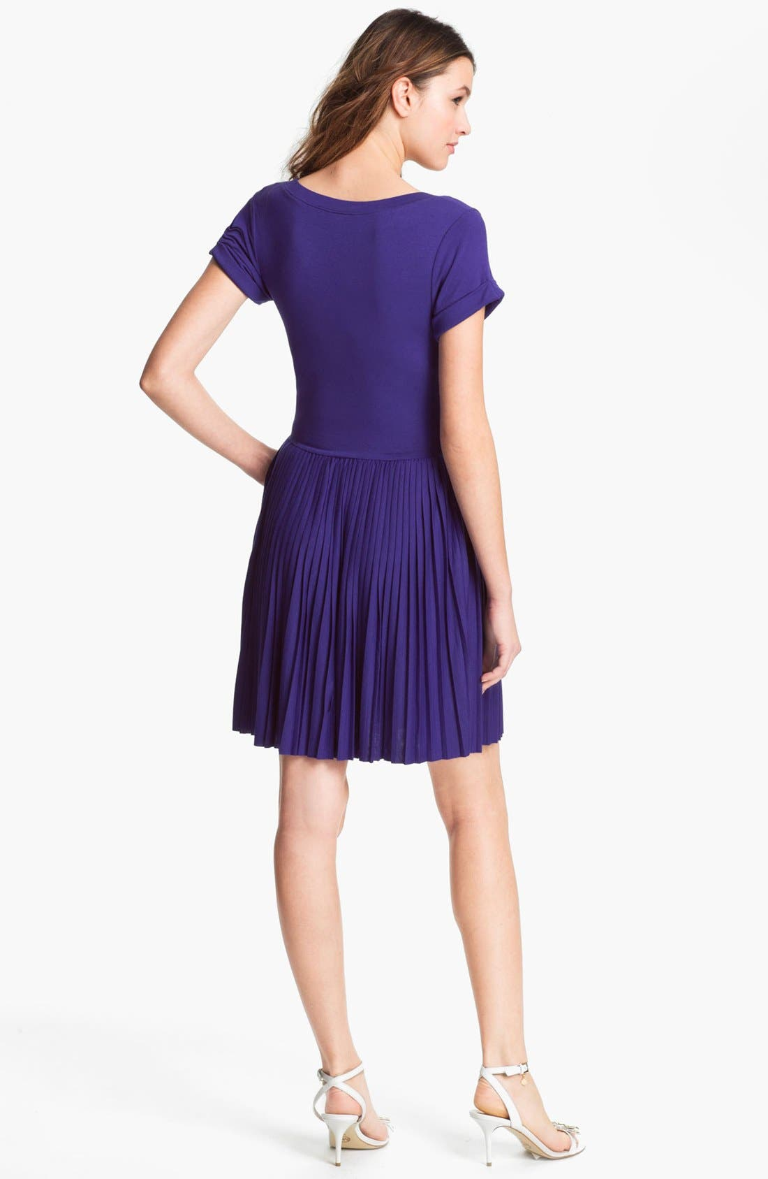 Alternate Image 2  - French Connection 'Penny' Pleated Jersey Dress