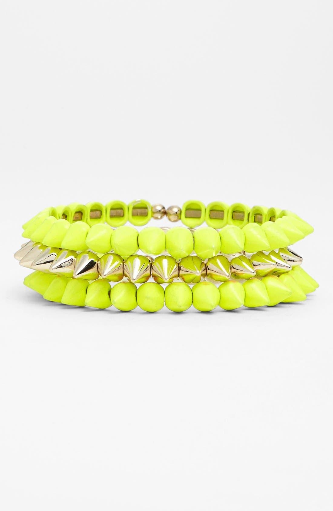 Alternate Image 1 Selected - Tasha Spike Stretch Bracelets (Set of 3)