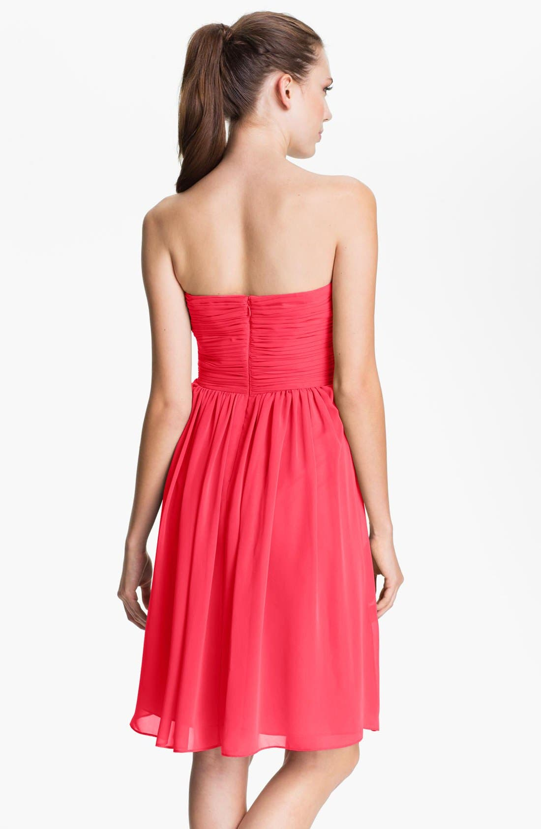 Alternate Image 2  - Calvin Klein Strapless Ruched Chiffon Dress