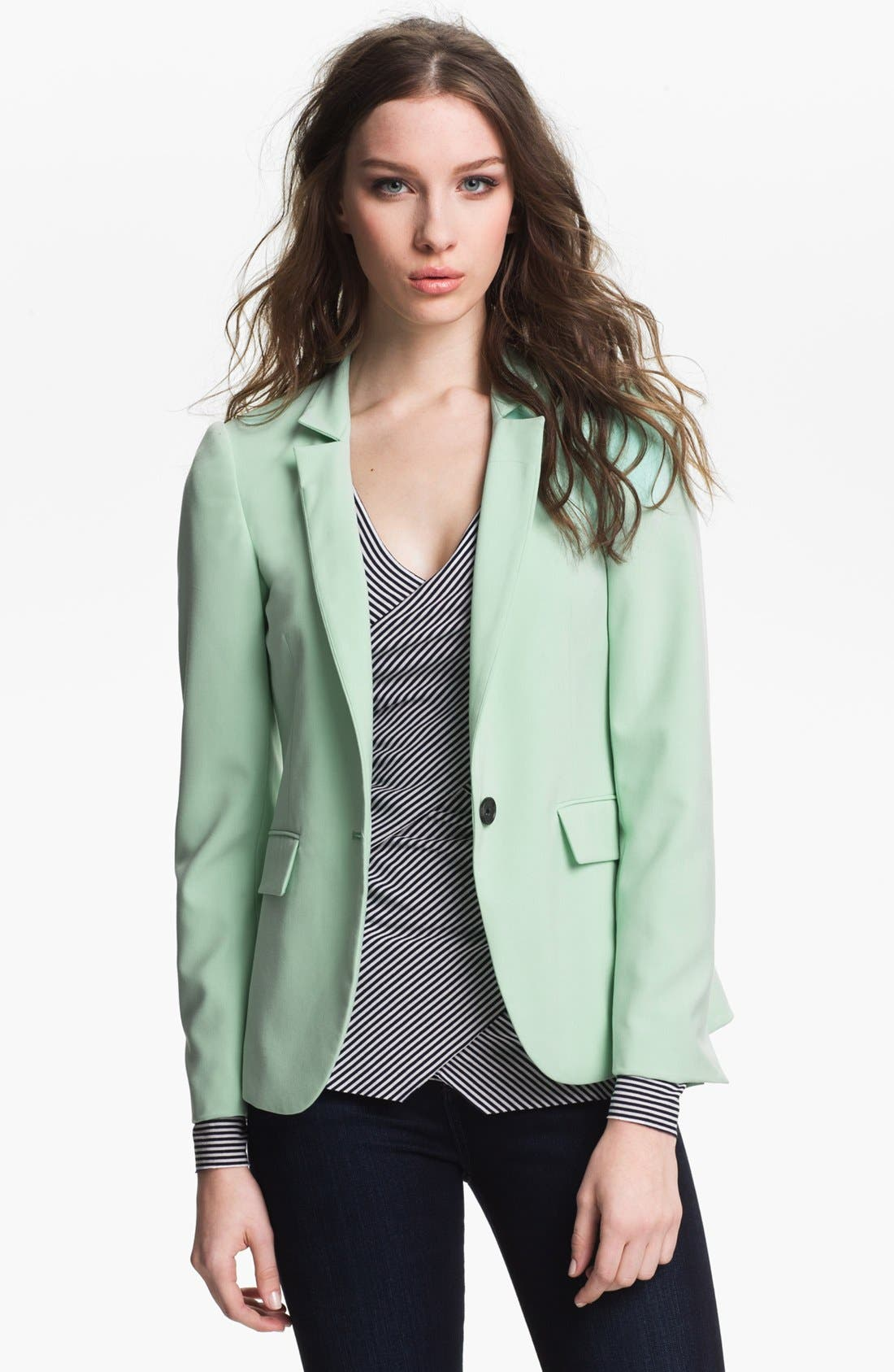 Alternate Image 1 Selected - Vince Camuto One Button Blazer (Petite)