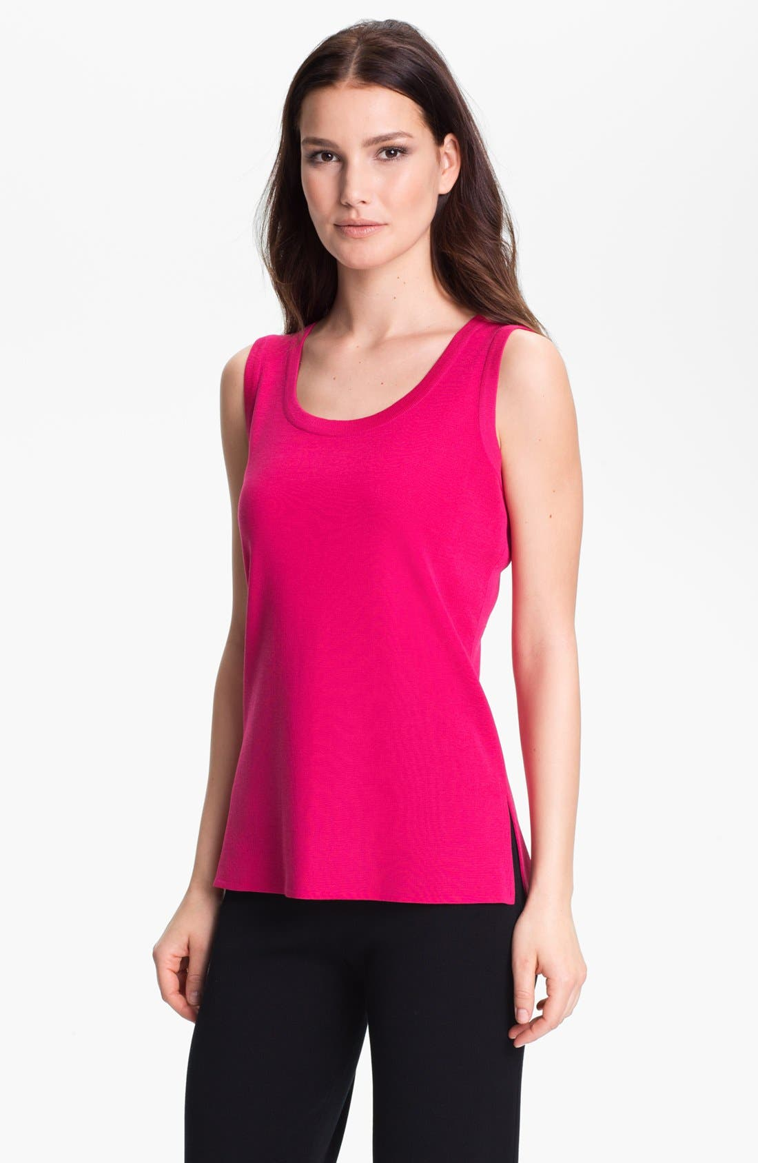 Alternate Image 1 Selected - Misook Scoop Neck Tank (Regular & Petite) (Online Only)