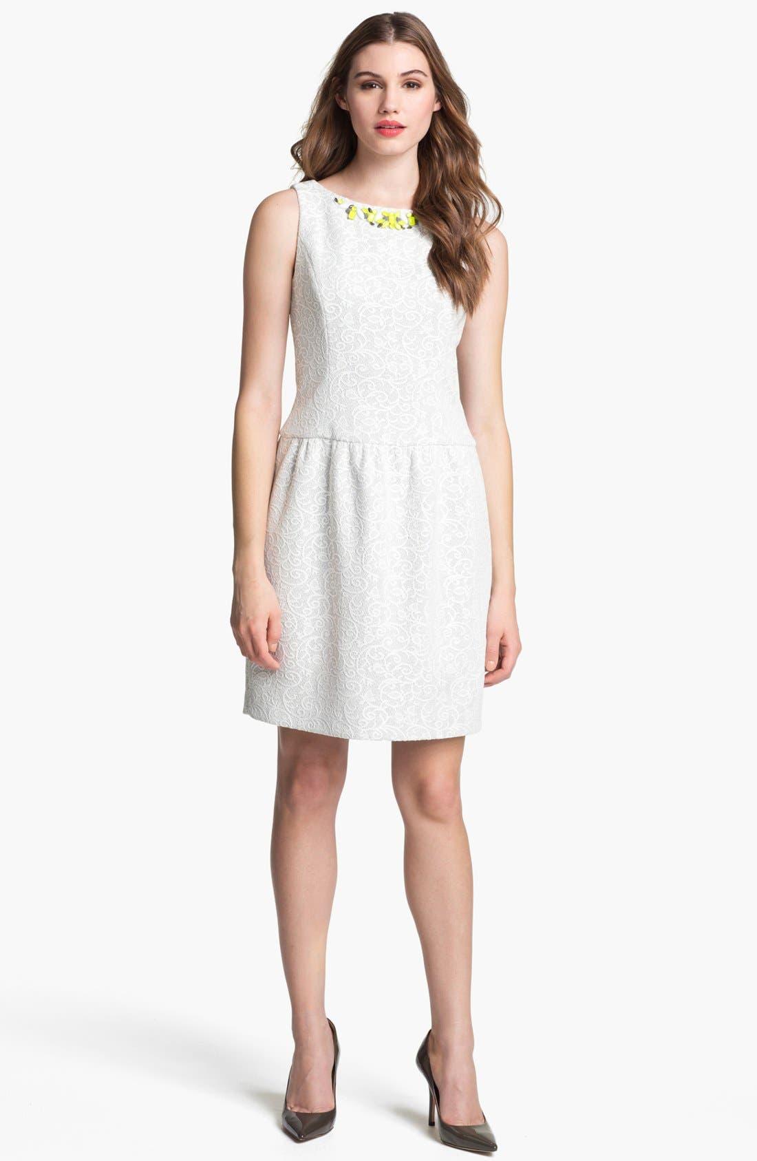 Alternate Image 1 Selected - Ivy & Blu Embellished Knit Lace Dress