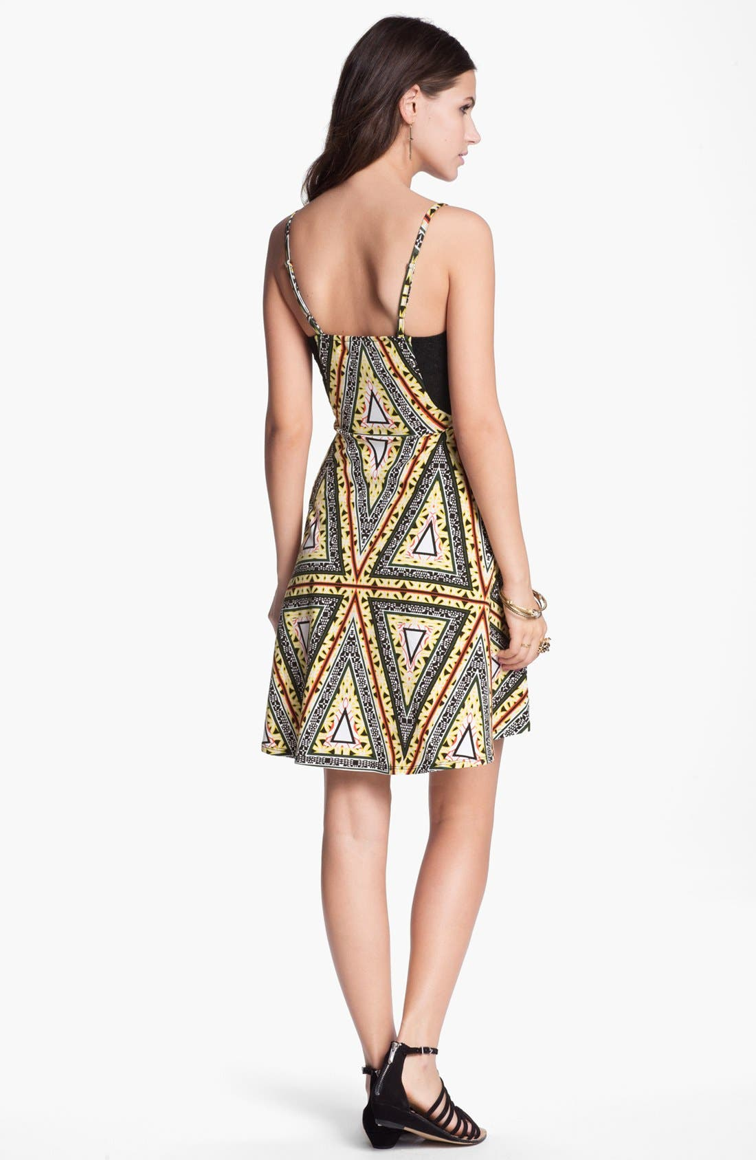 Alternate Image 2  - Fire Desert Print Bustier Dress (Juniors)