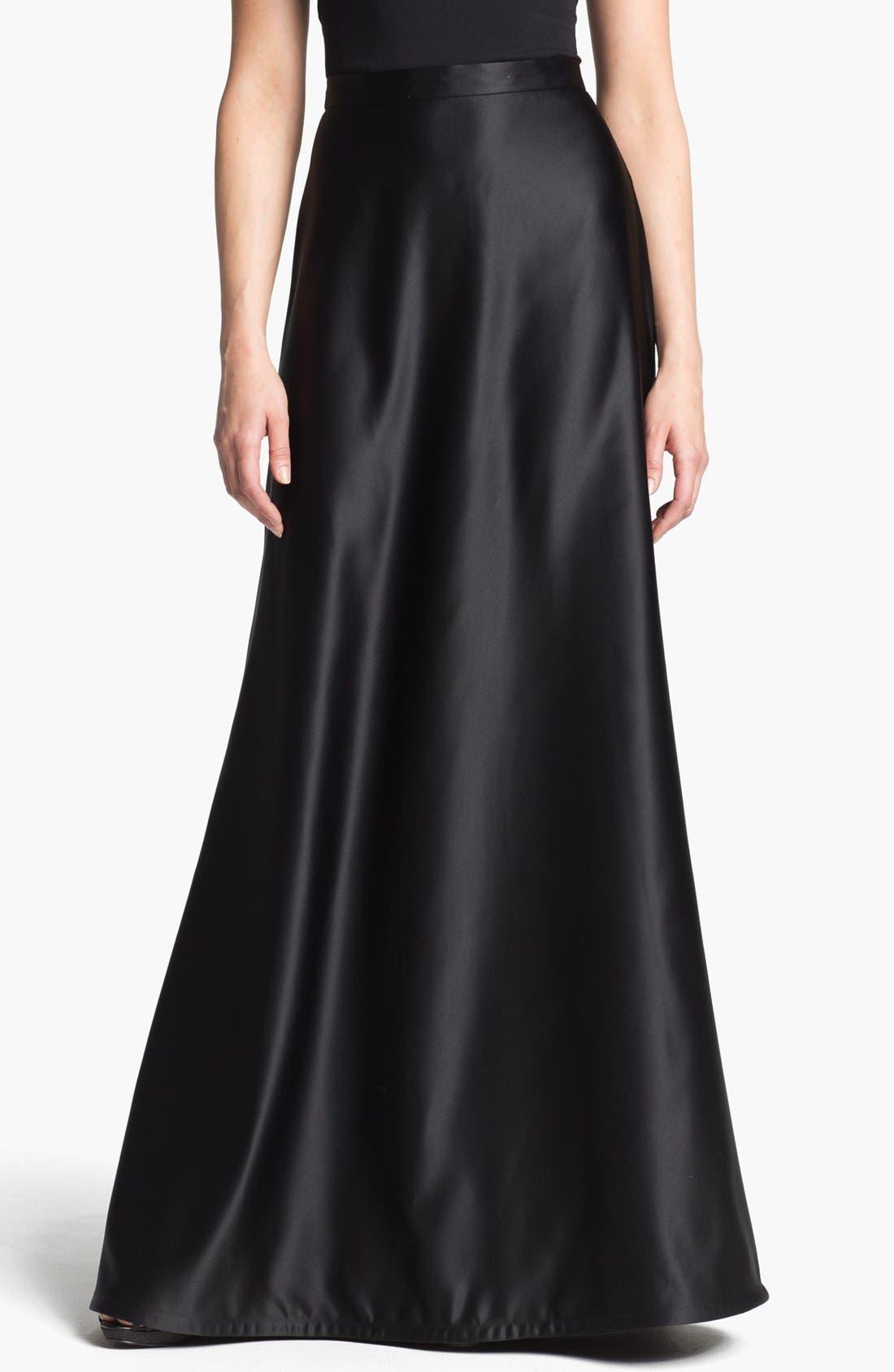 Main Image - Tadashi Shoji Satin A-Line Skirt