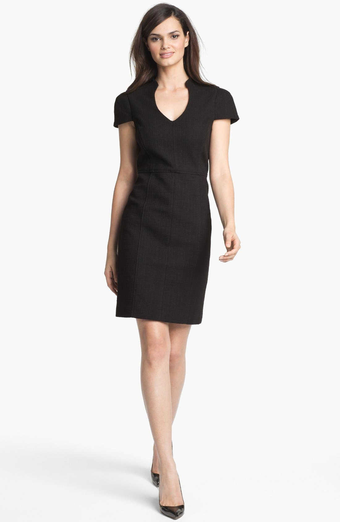 Main Image - 4.collective Basket Weave Sheath Dress