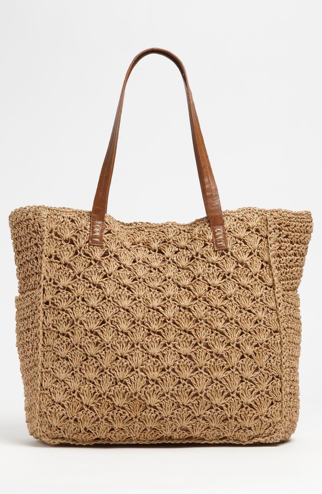 Crochet Tote,                             Alternate thumbnail 4, color,                             Brown