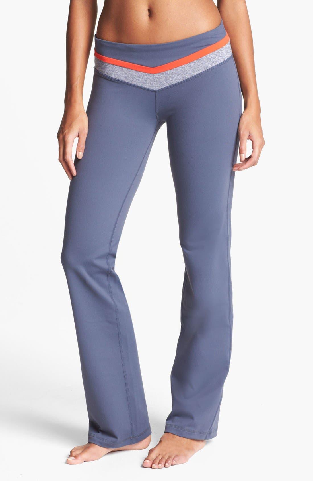 Alternate Image 1 Selected - Zella 'Booty' Colorblock Waist Pants
