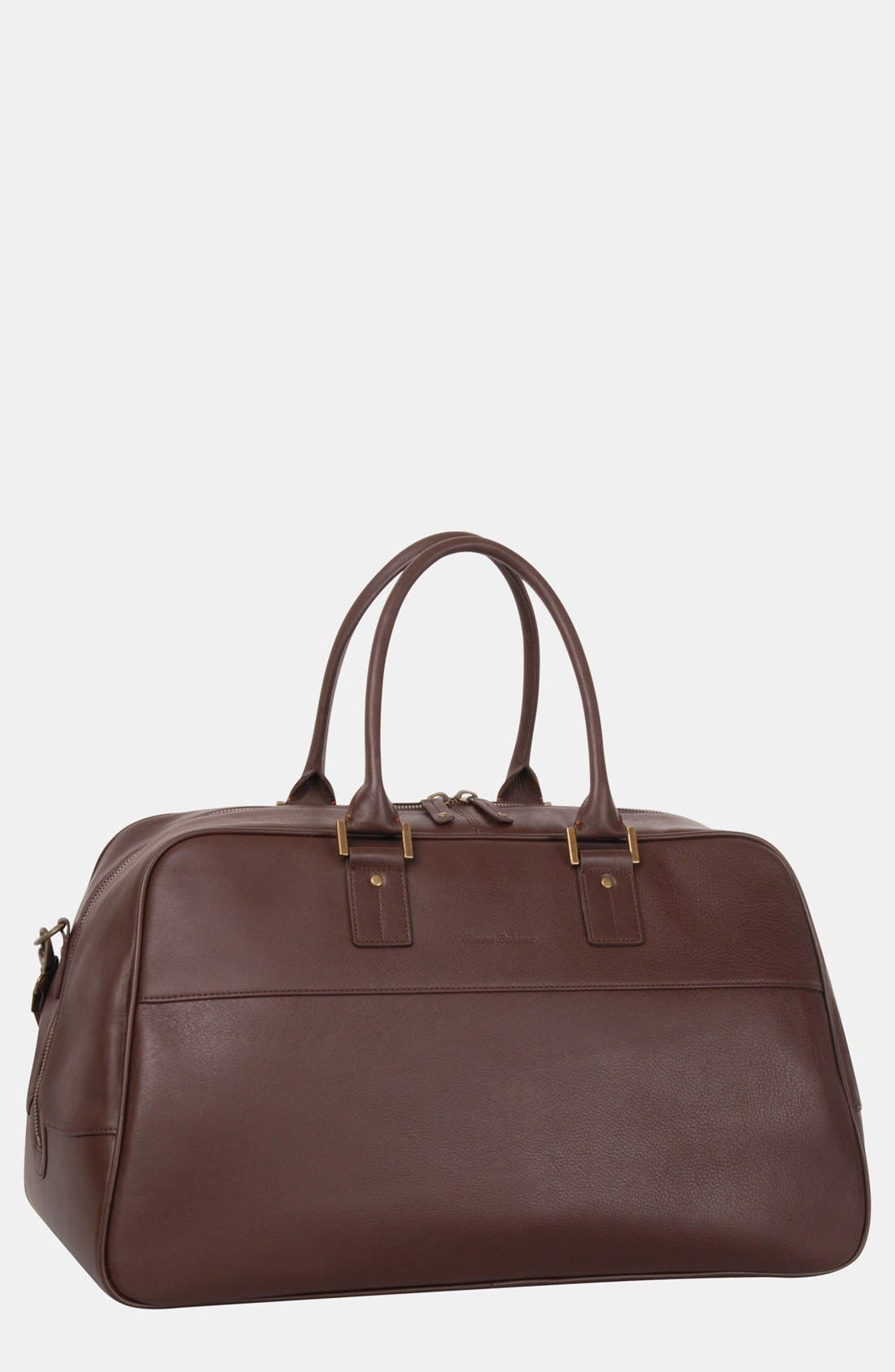 Alternate Image 1 Selected - Tommy Bahama Leather Duffel Bag