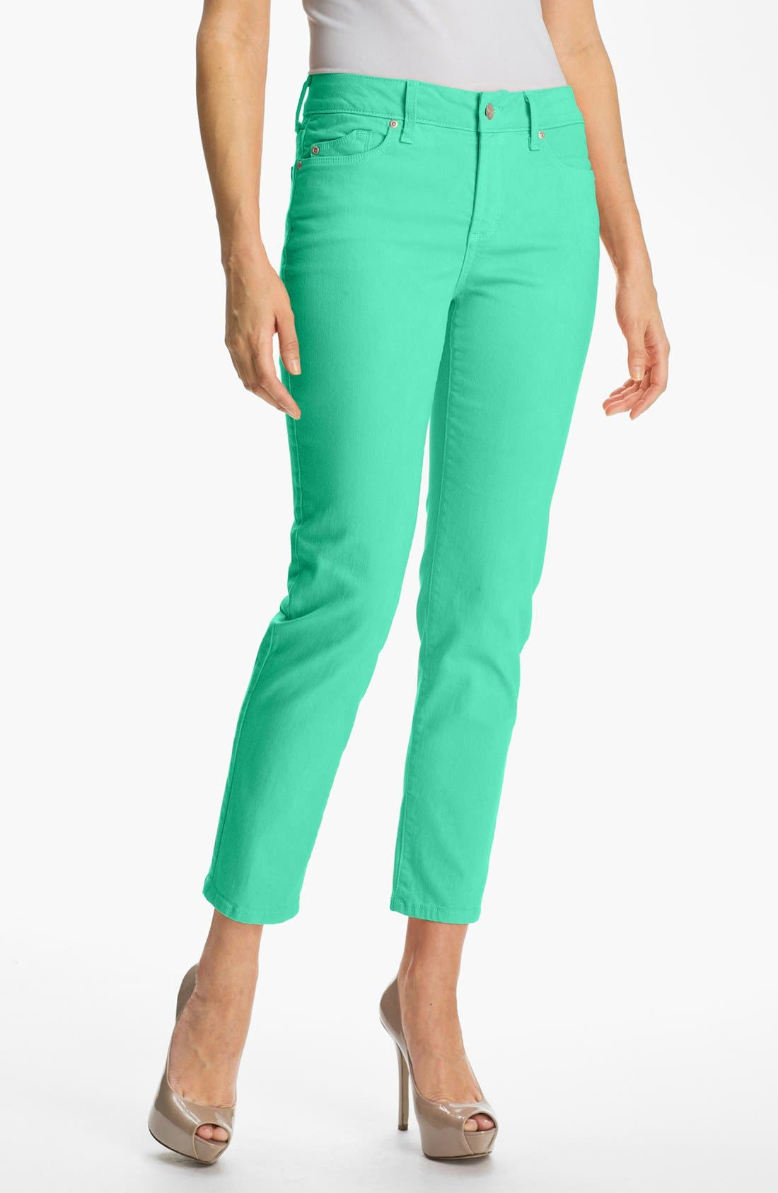Main Image - NYDJ 'Alisha' Skinny Stretch Ankle Jeans (Petite)