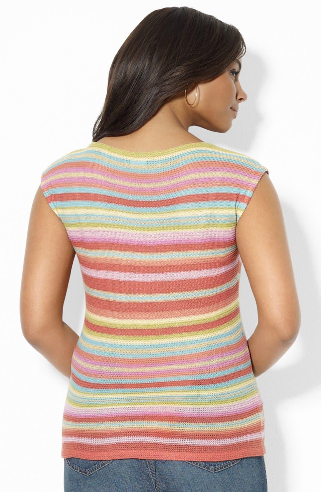 Alternate Image 2  - Lauren Ralph Lauren Drop Shoulder Knit Top (Plus Size)