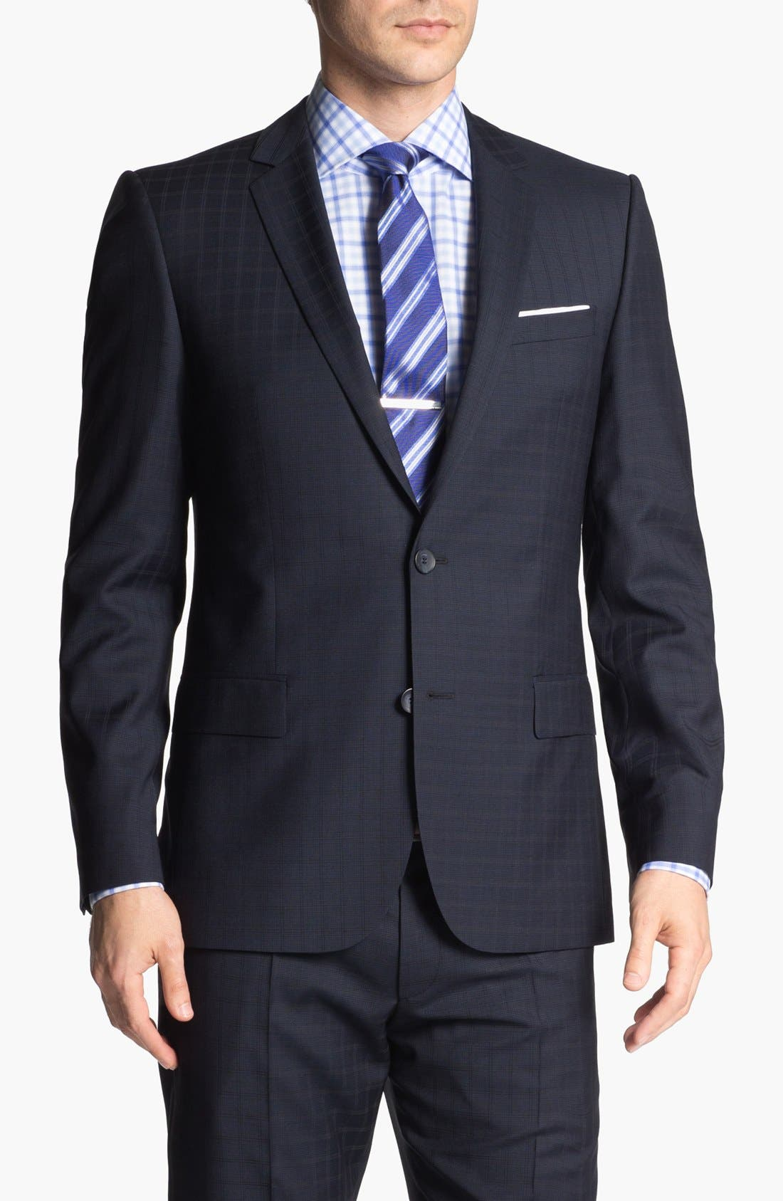 Alternate Image 4  - HUGO 'Amaro/Heise' Trim Fit Check Suit