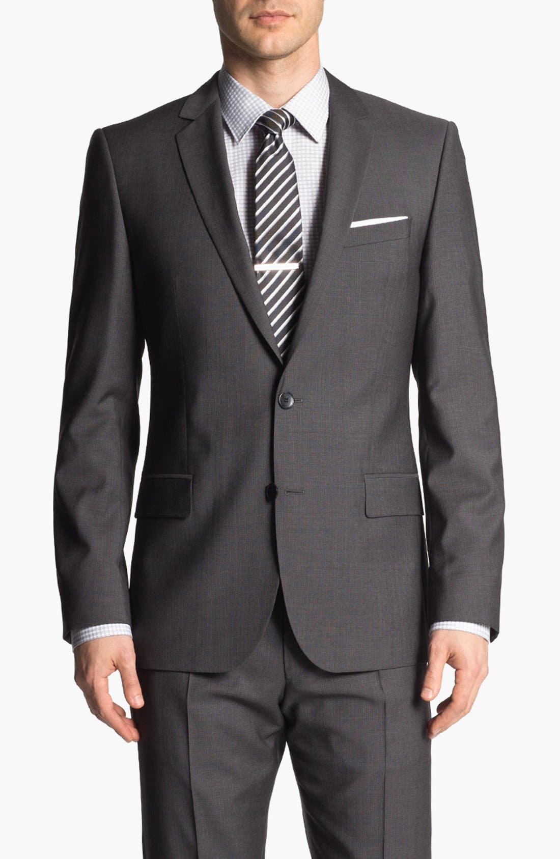 Alternate Image 4  - HUGO 'Amaro/Heise' Trim Fit Wool Suit