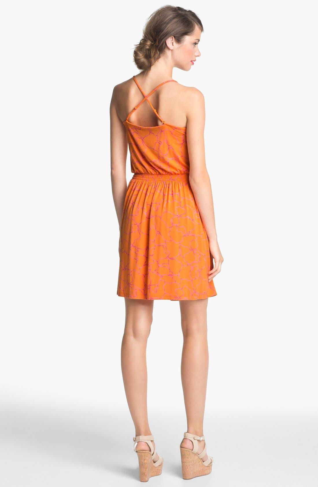 Alternate Image 2  - Caslon® Crisscross Back Halter Dress