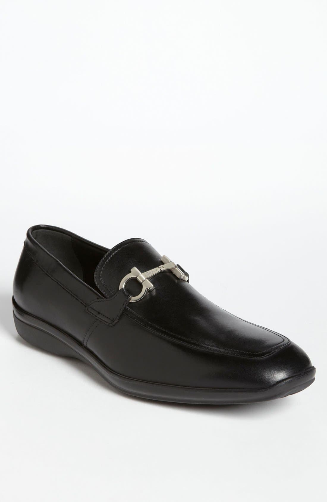 Alternate Image 1 Selected - Salvatore Ferragamo 'Simply' Bit Loafer