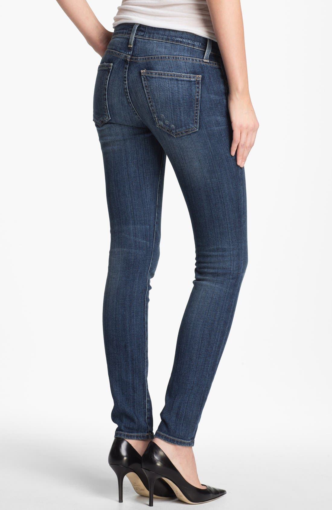 Alternate Image 2  - Current/Elliott 'The Ankle' Skinny Jeans (Loved)