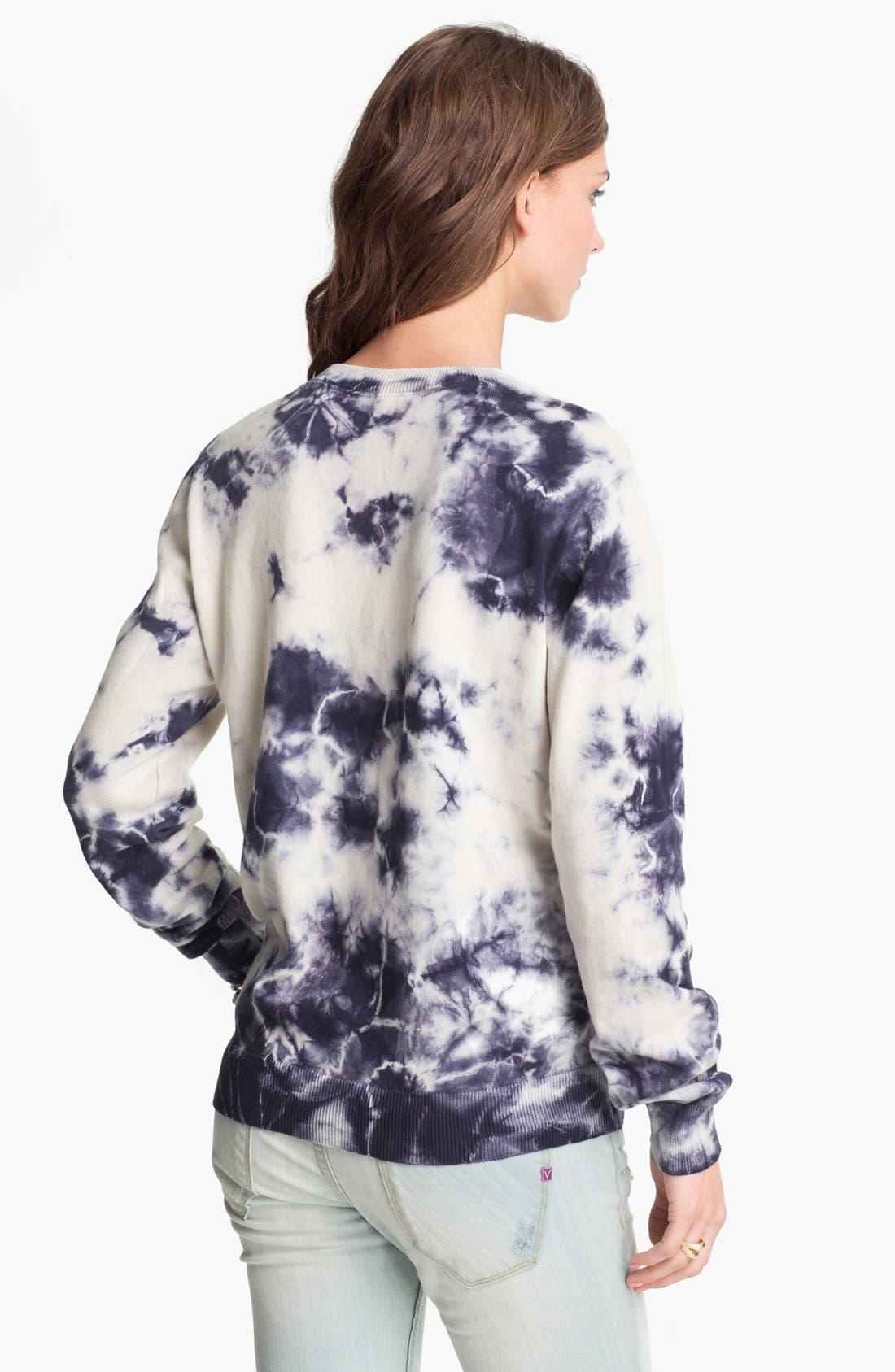 Alternate Image 2  - Truehitt Tie Dye Crewneck Sweater (Juniors)