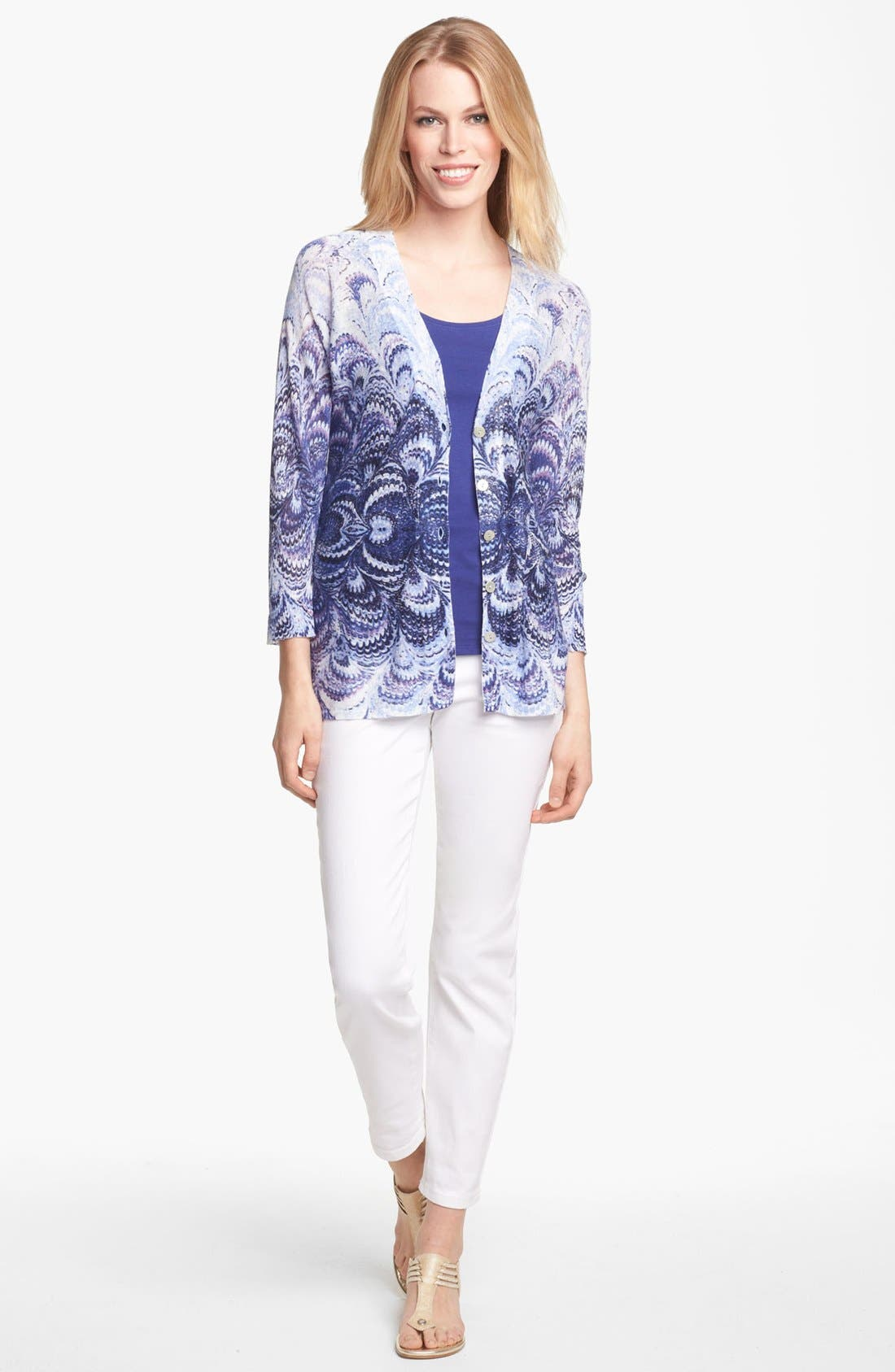Alternate Image 2  - NIC + ZOE 'Radiant' V-Neck Cardigan