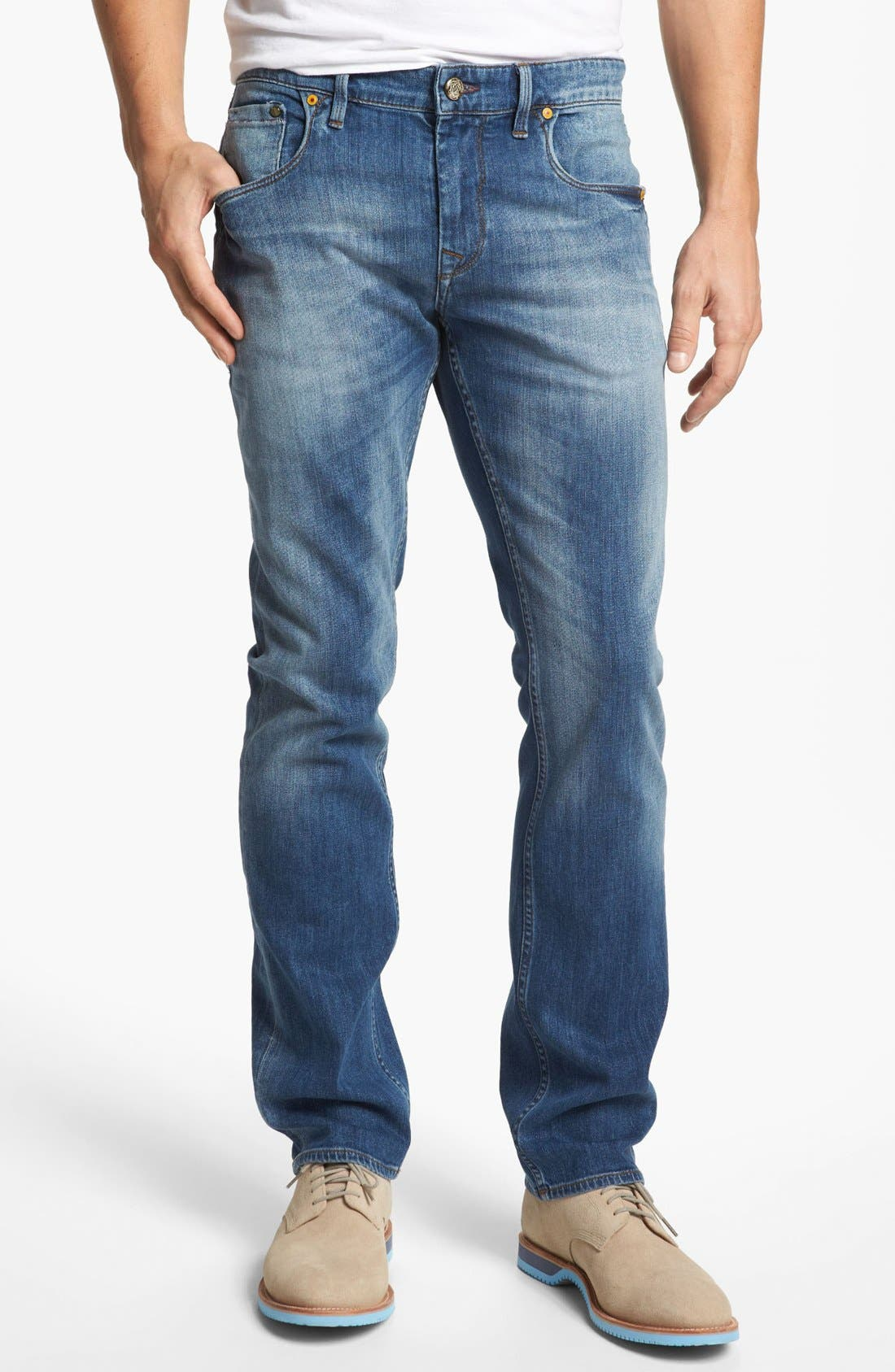 Main Image - Robert Graham 'Stretchin' Out' Slim Fit Jeans (Indigo)