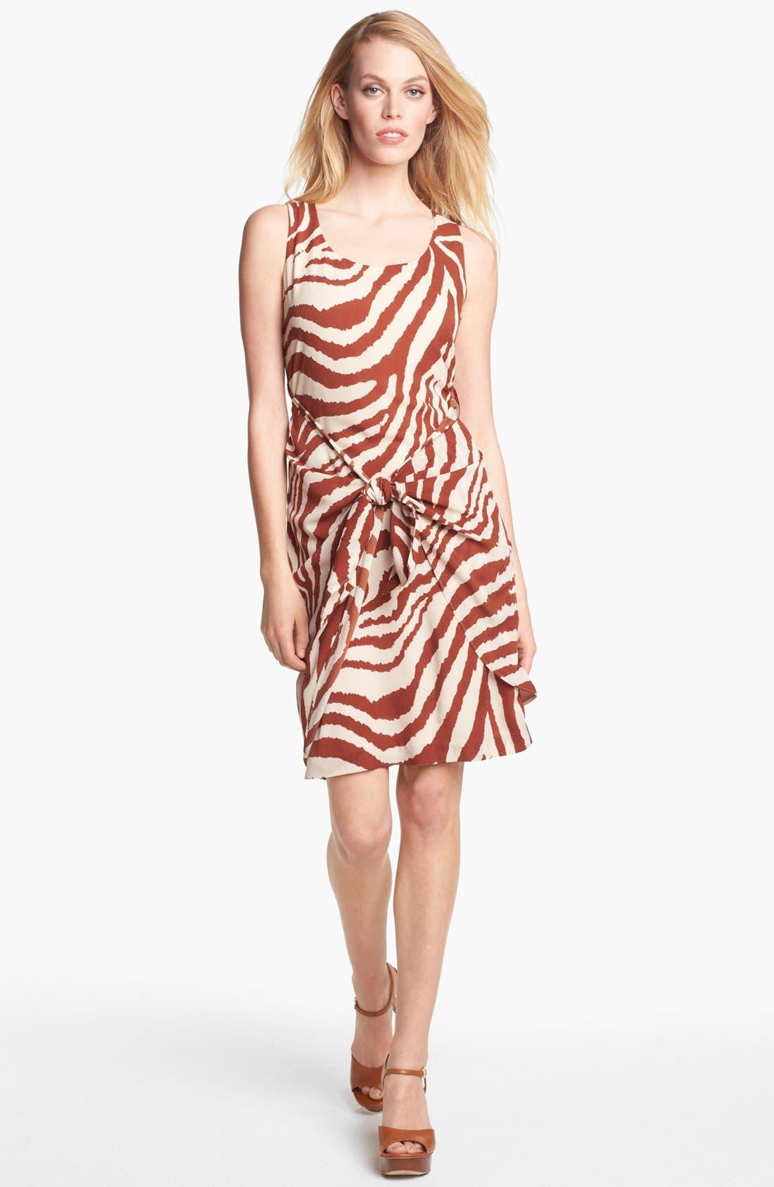 Alternate Image 1 Selected - Anne Klein Animal Stripe Sarong Dress (Petite)