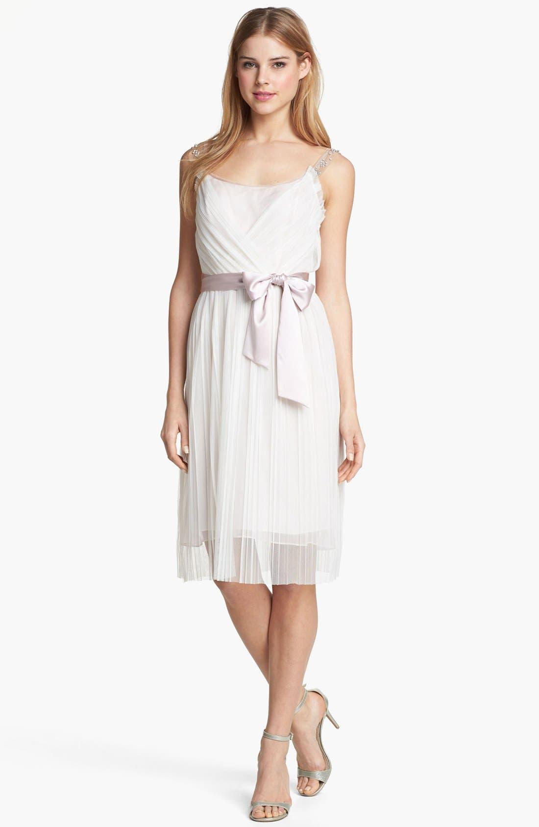 Alternate Image 3  - Ivy & Blu Embellished Pleat Chiffon Dress (Online Only)