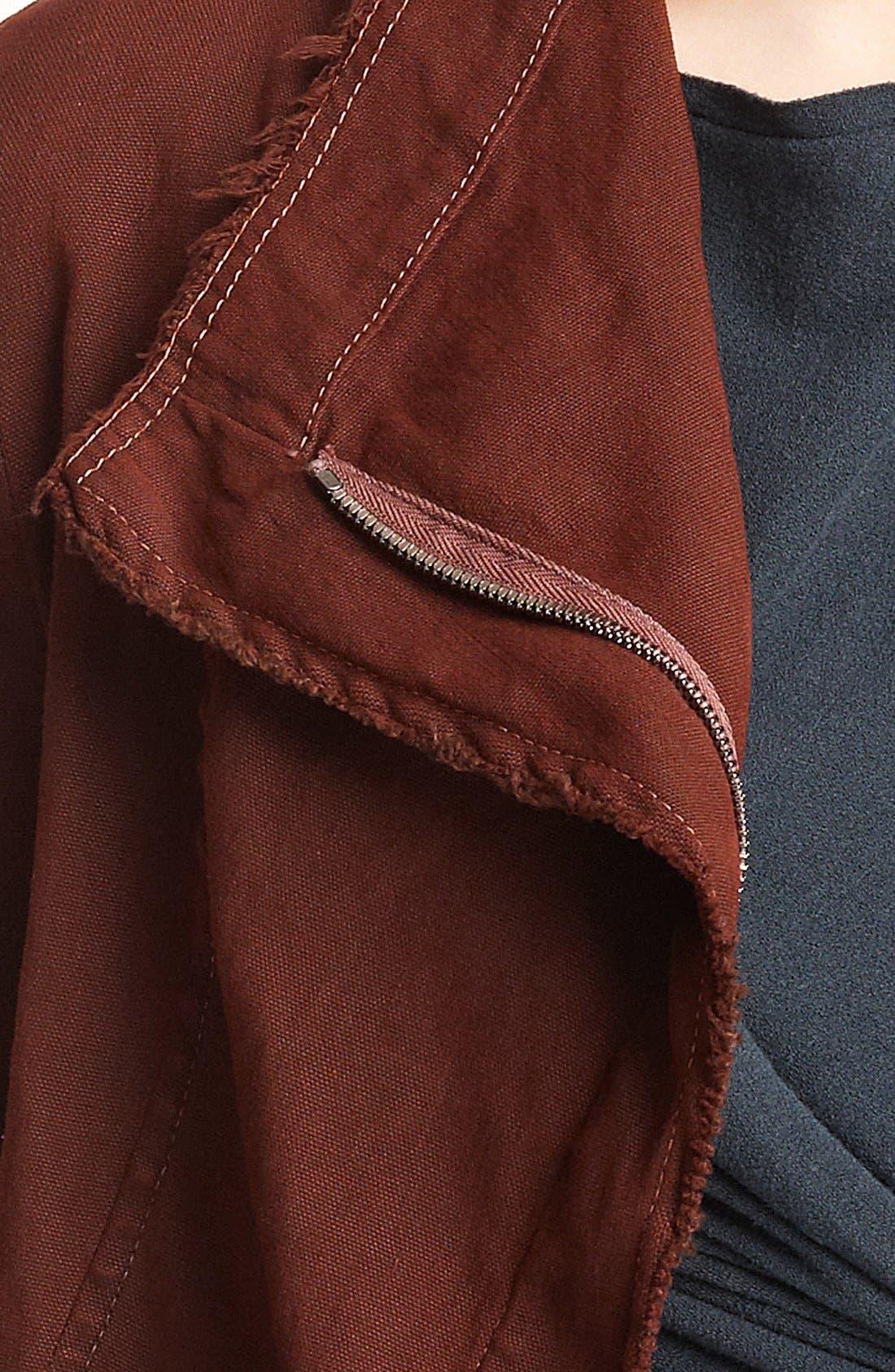 Alternate Image 3  - Donna Karan Collection Washed Stretch Canvas Jacket