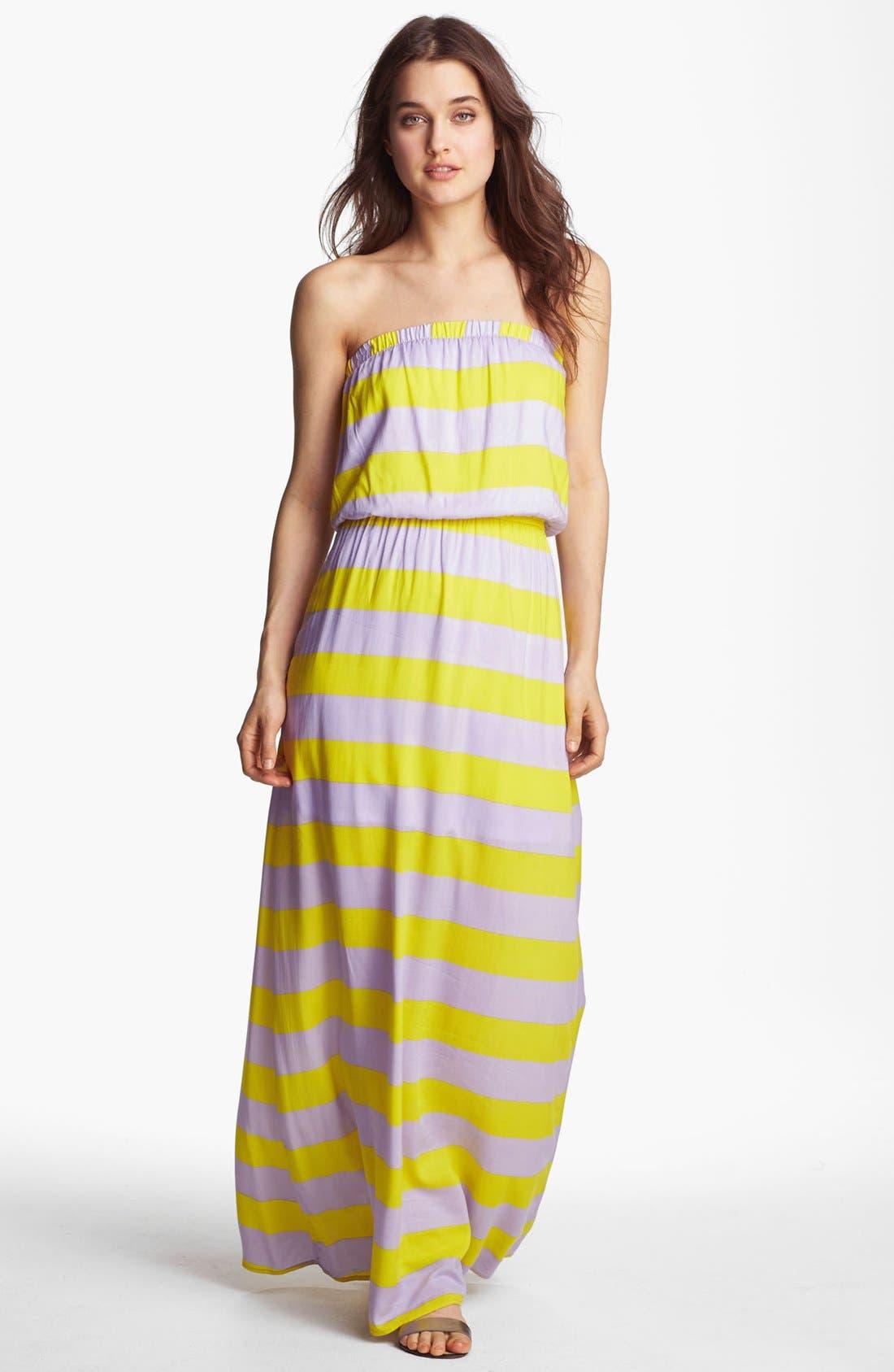 Alternate Image 1 Selected - Splendid 'Magnolia' Stripe Strapless Maxi Dress