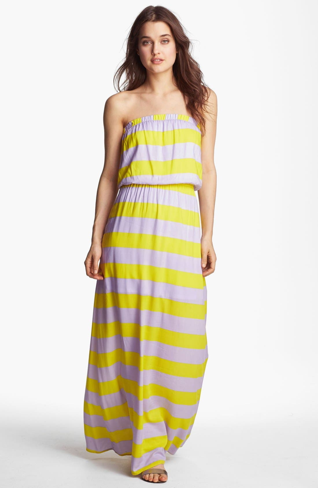Main Image - Splendid 'Magnolia' Stripe Strapless Maxi Dress