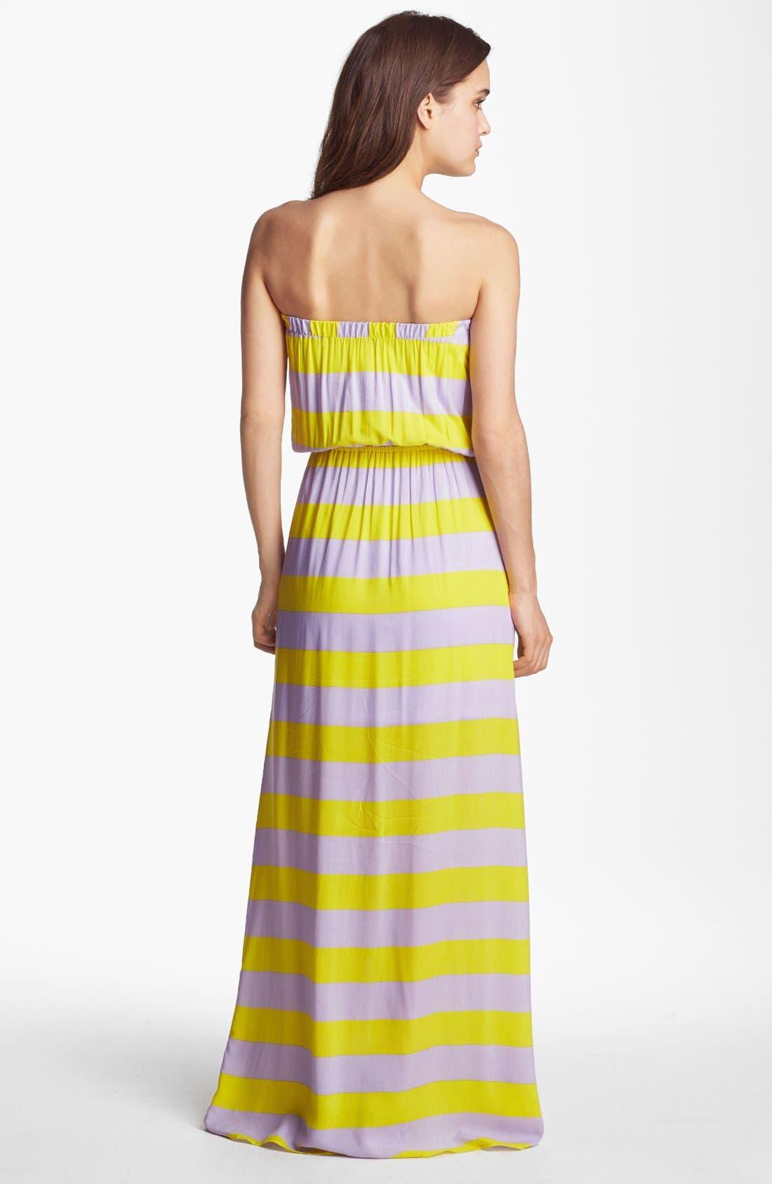Alternate Image 2  - Splendid 'Magnolia' Stripe Strapless Maxi Dress