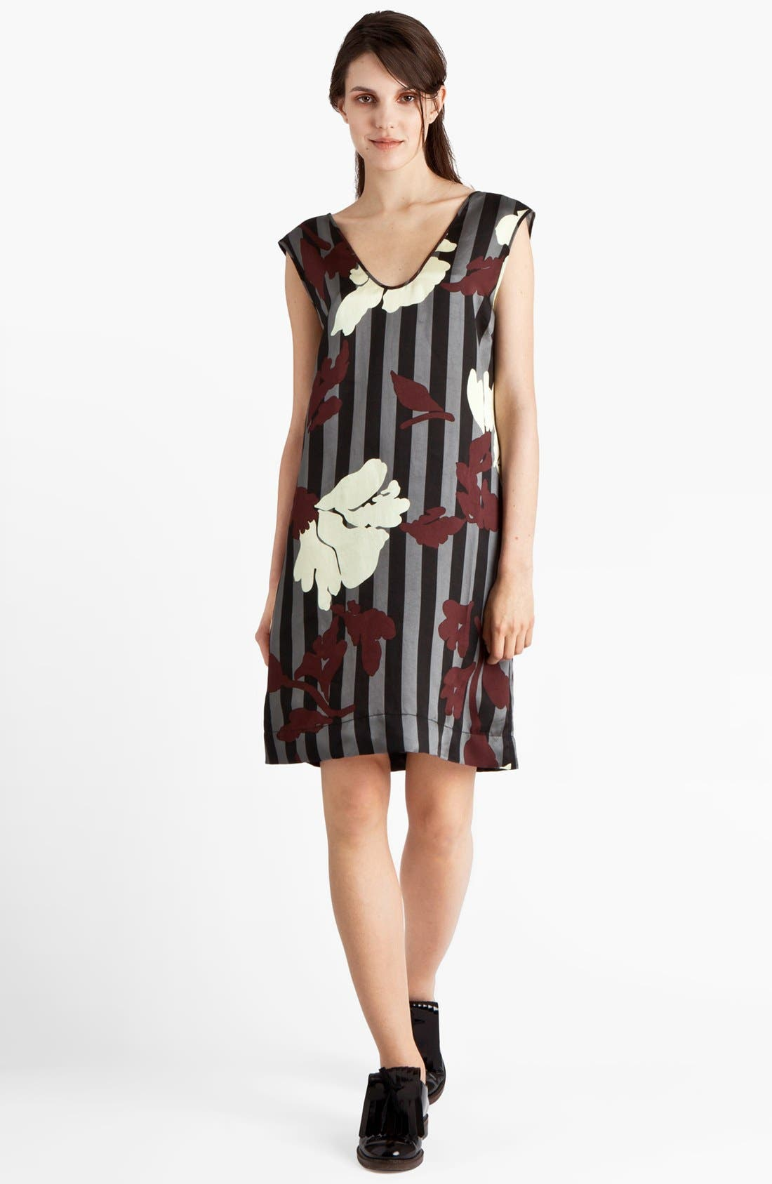 Alternate Image 1 Selected - Marni Stripe & Floral Print Twill Dress