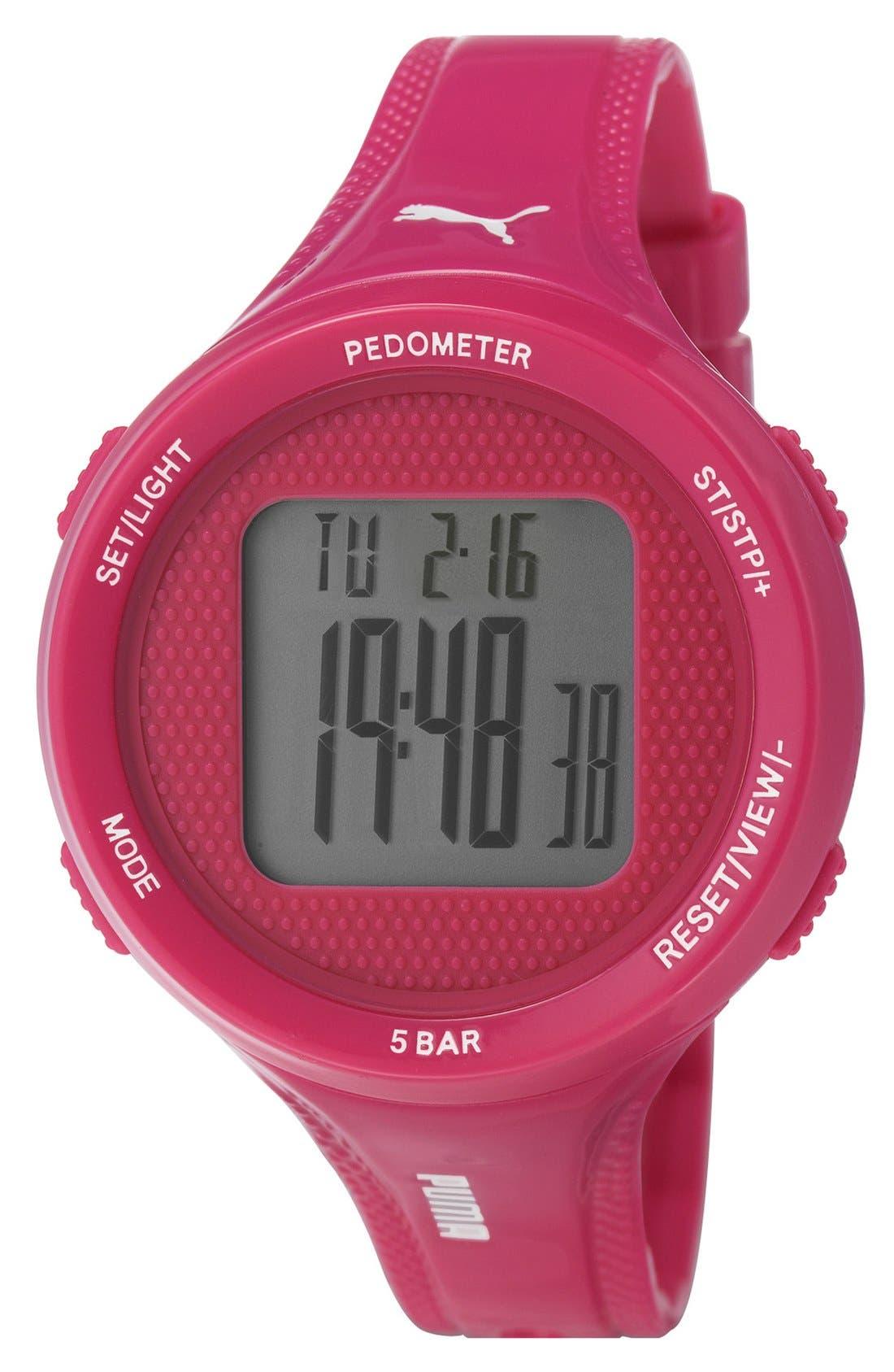 Alternate Image 1 Selected - PUMA 'Step' Digital Pedometer Watch, 45mm