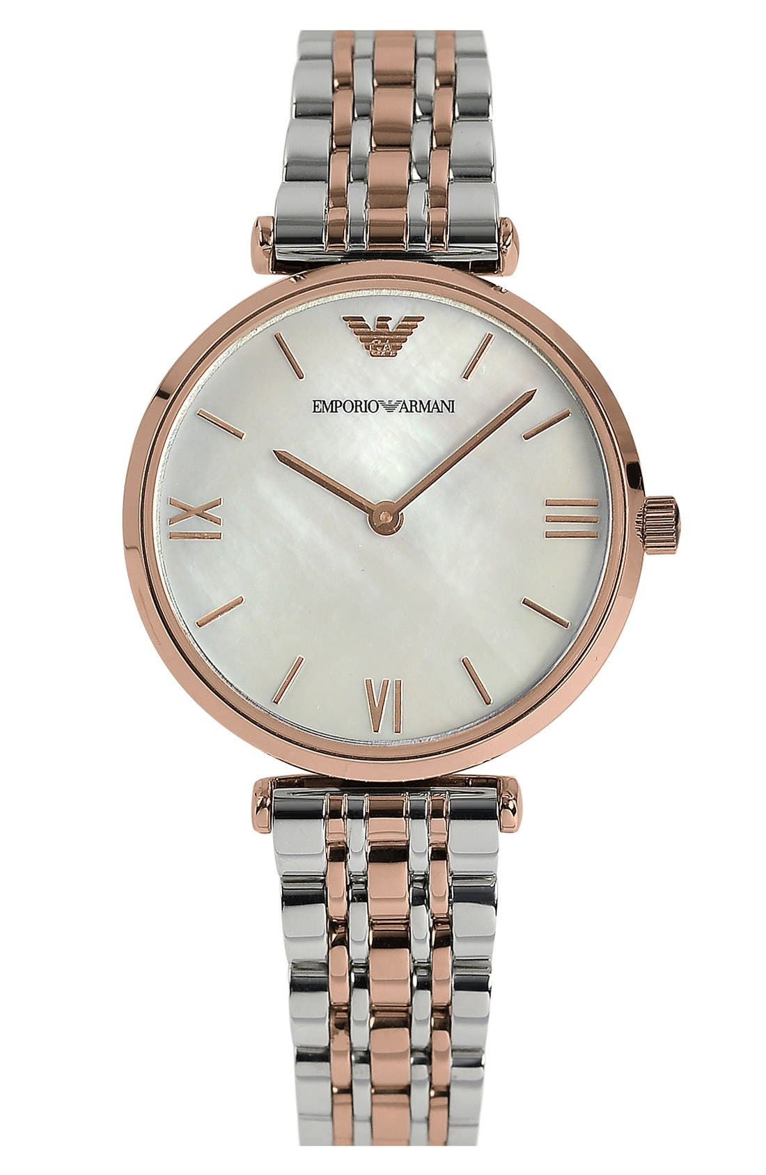 Main Image - Emporio Armani Small Round Bracelet Watch, 32mm