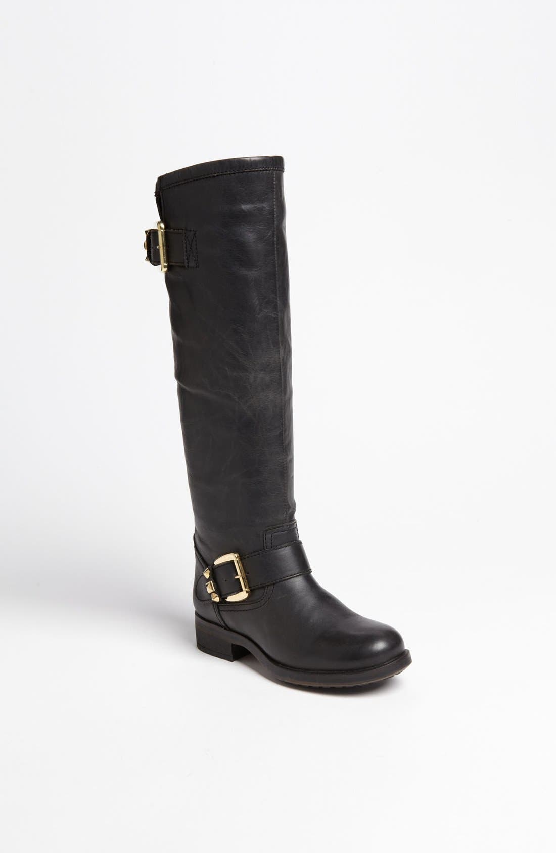 'Barton' Boot,                             Main thumbnail 1, color,                             Black Leather