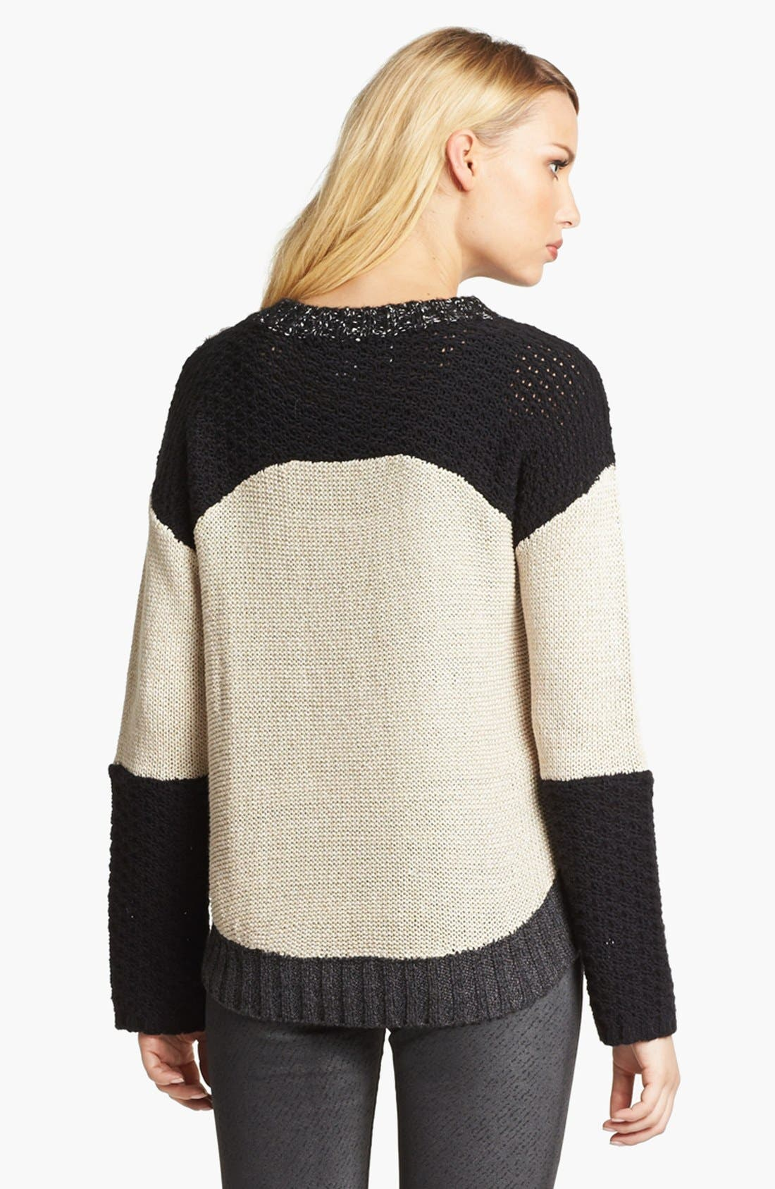 Alternate Image 3  - Curio Mix Knit High/Low Sweater