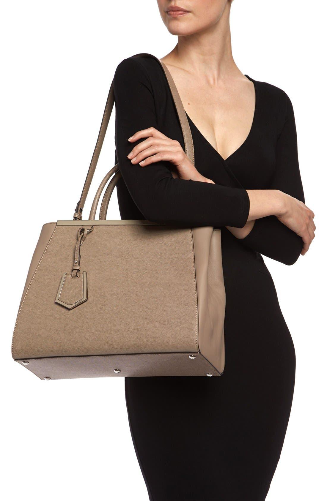 Alternate Image 2  - Fendi '2Jours Elite' Leather Shopper