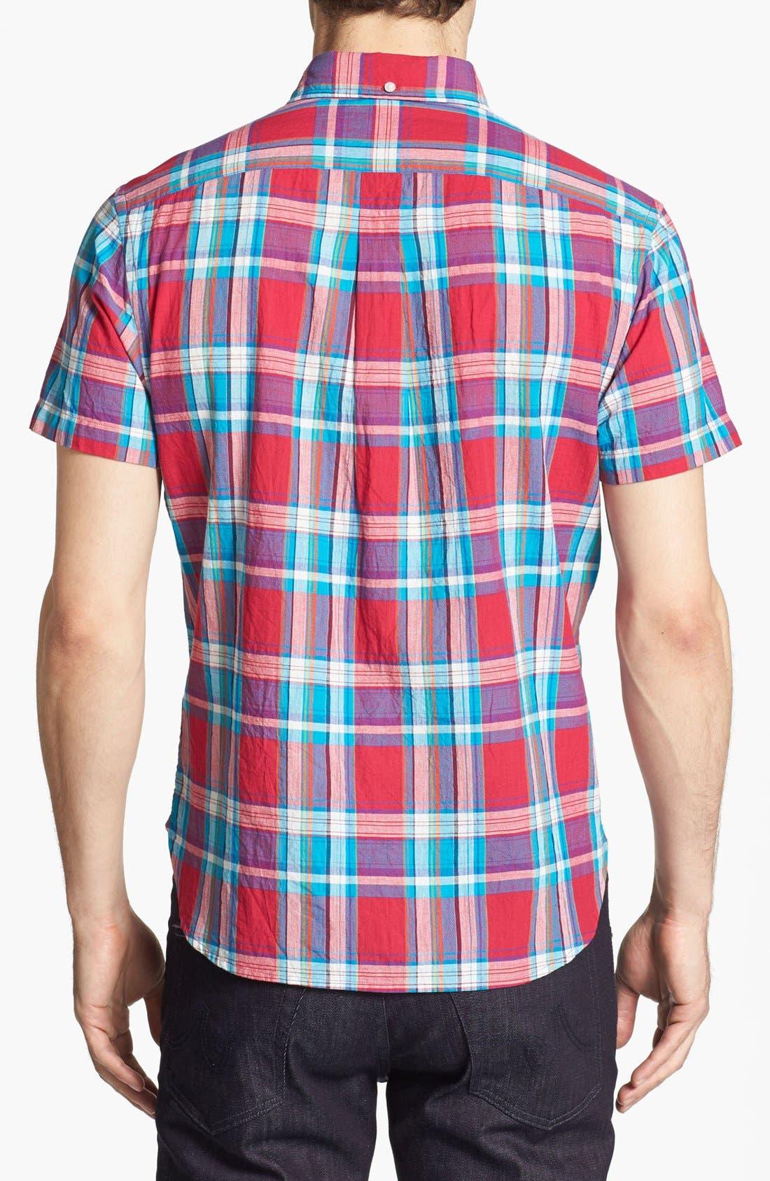 Alternate Image 2  - Bonobos Madras Plaid Standard Fit Short Sleeve Sport Shirt