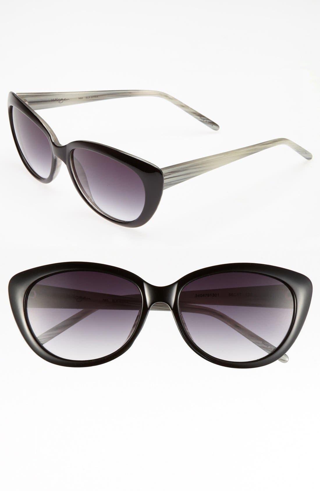 Main Image - Halogen® 56mm Cat's Eye Sunglasses