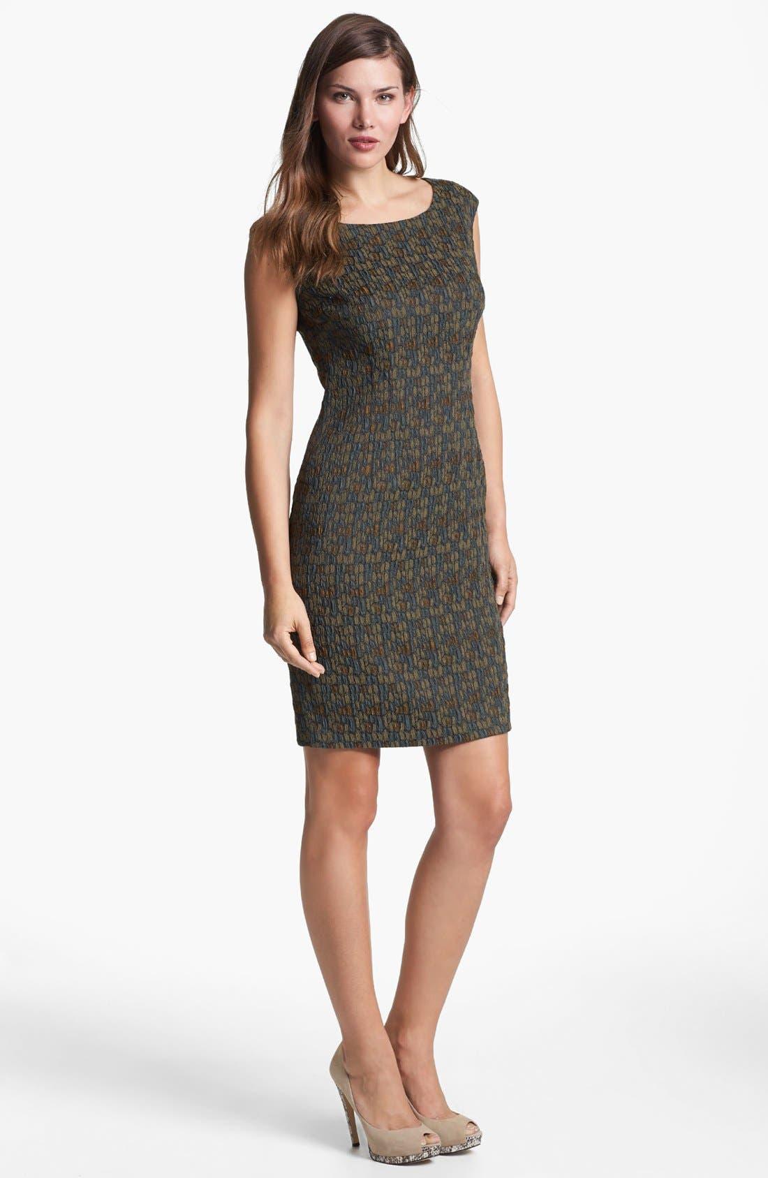 Main Image - Lafayette 148 New York 'Bianca - Fossilized Jacquard' Dress