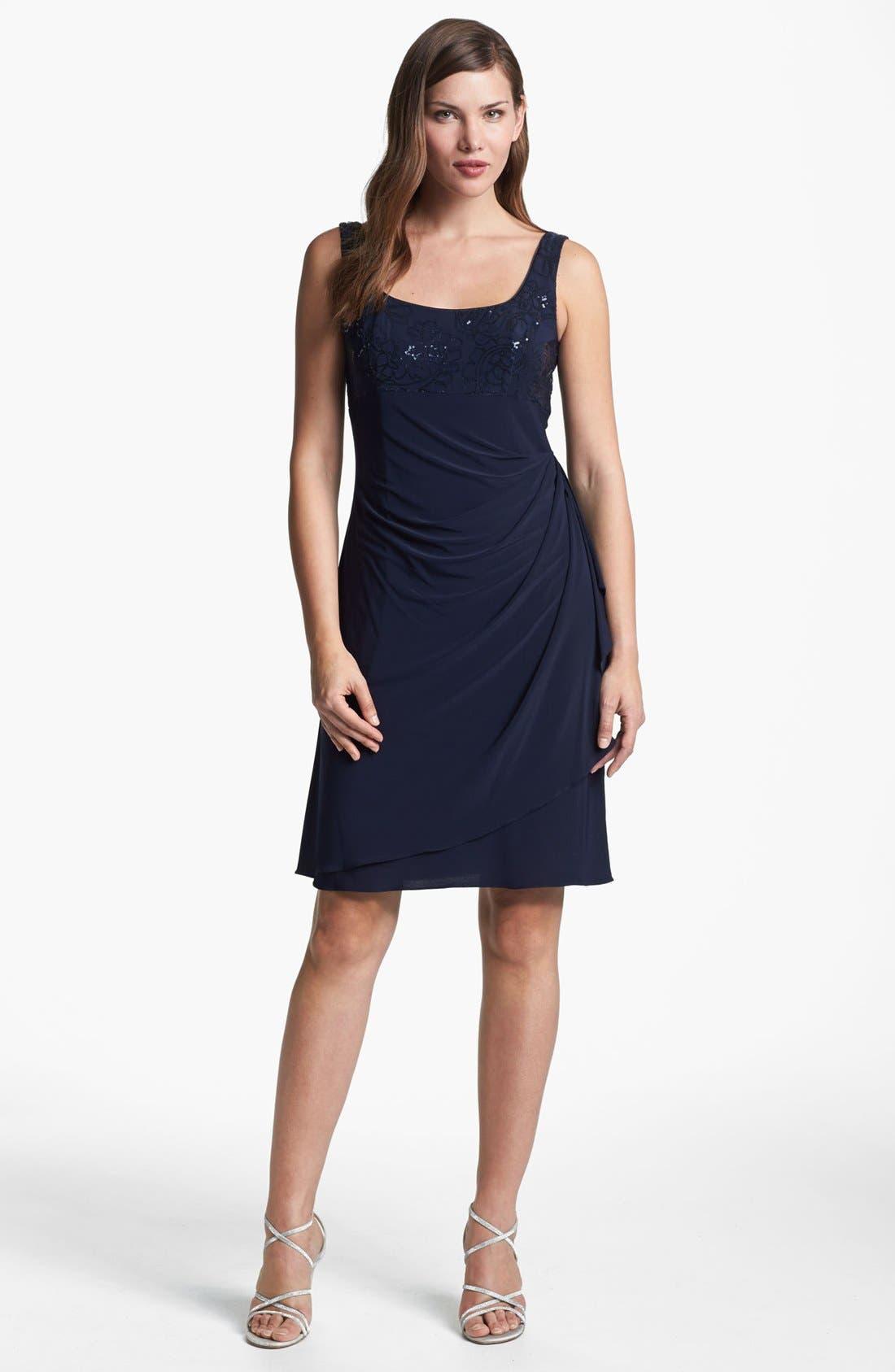 Alternate Image 2  - Alex Evenings Sequin Trim Dress & Bolero (Petite)