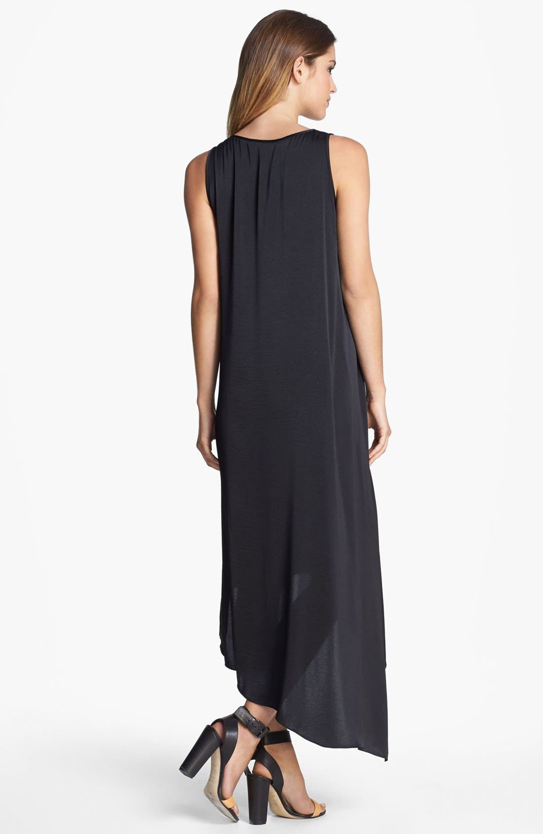 Alternate Image 2  - BCBGMAXAZRIA Tiered Asymmetrical Hem Dress