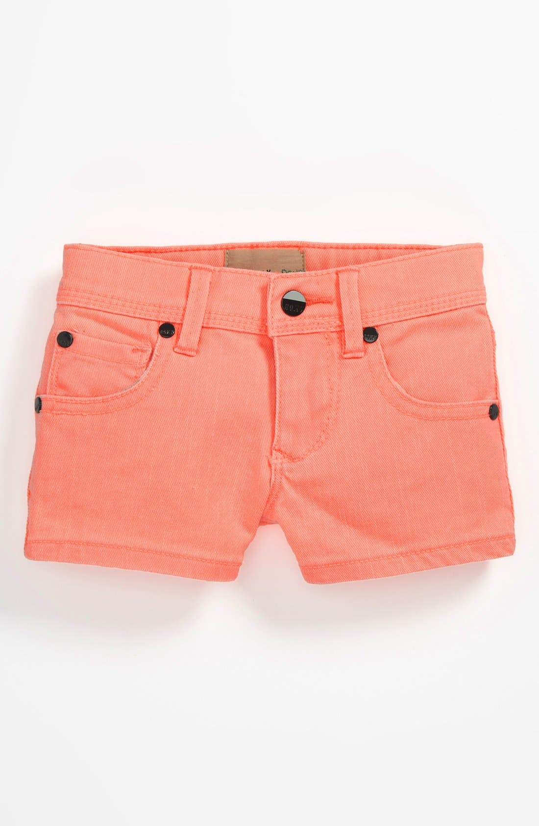 Alternate Image 2  - Roxy 'Ferris Wheel' Denim Shorts (Little Girls)