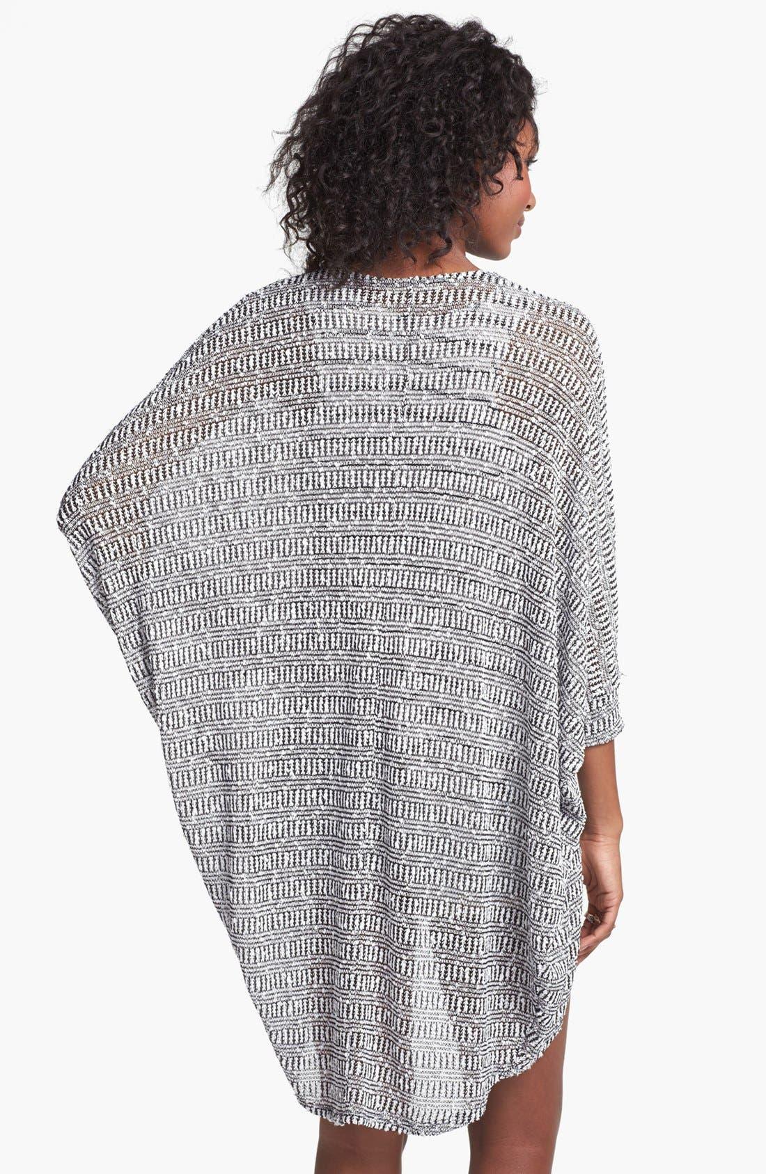 Alternate Image 2  - Painted Threads Oversized Sheer Knit Cardigan (Juniors)