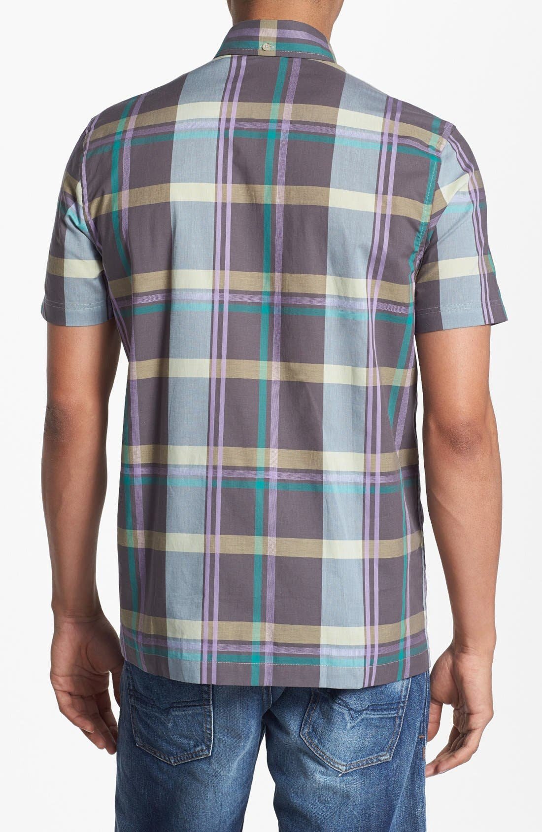 Alternate Image 3  - Ben Sherman Plaid Short Sleeve Woven Shirt
