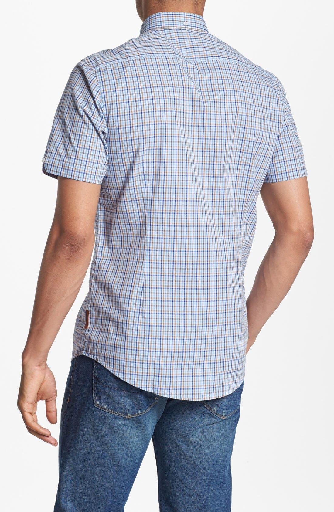 Alternate Image 3  - Ben Sherman Check Short Sleeve Woven Shirt