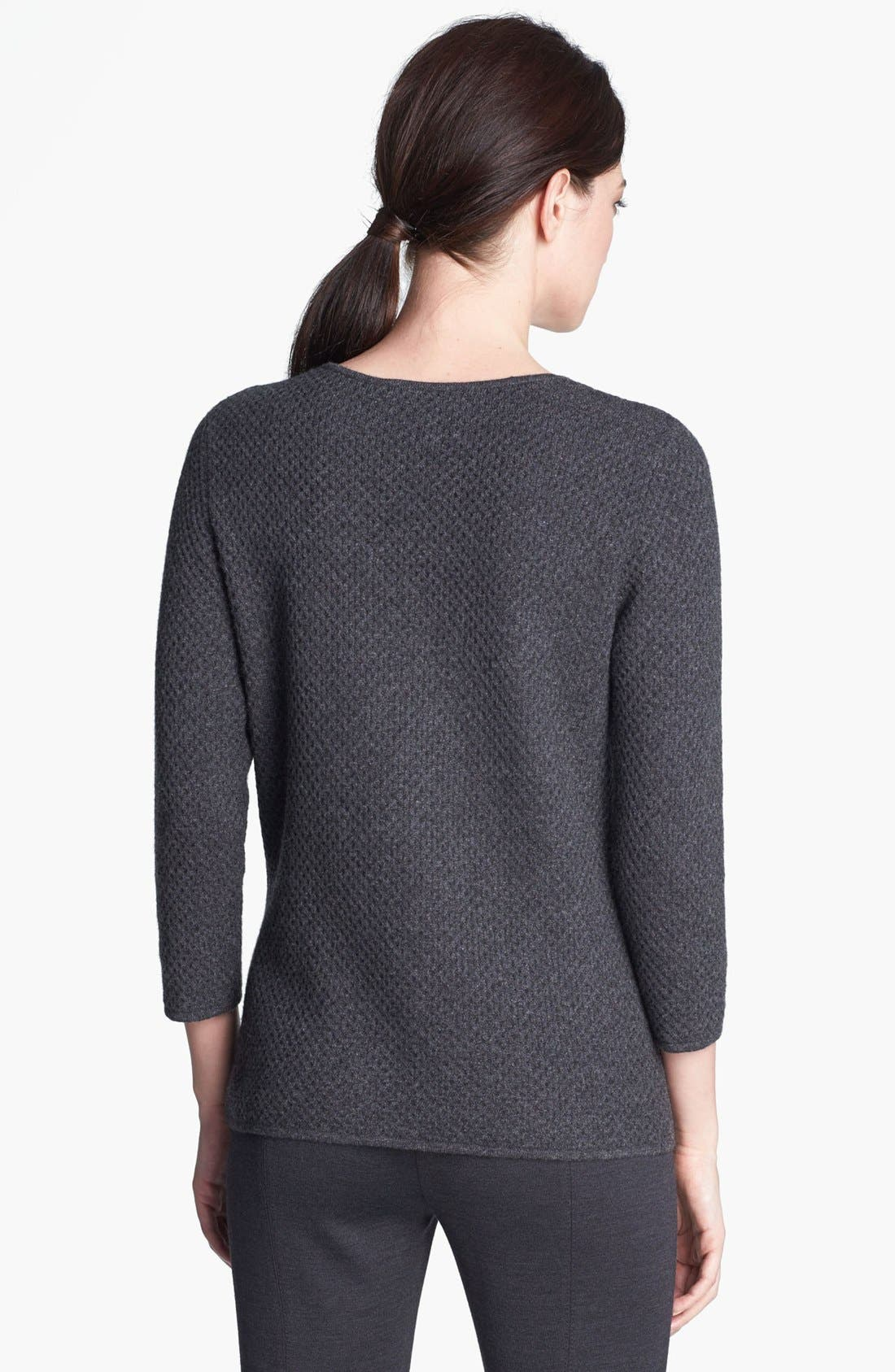 Alternate Image 2  - St. John Collection Scoop Neck Cashmere Knit Sweater