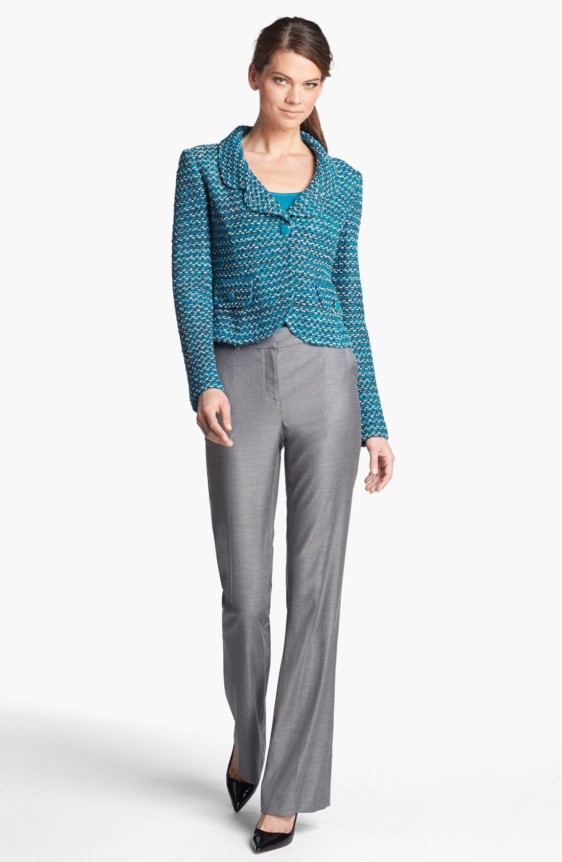 Alternate Image 2  - St. John Collection Notch Collar Tweed Knit Jacket