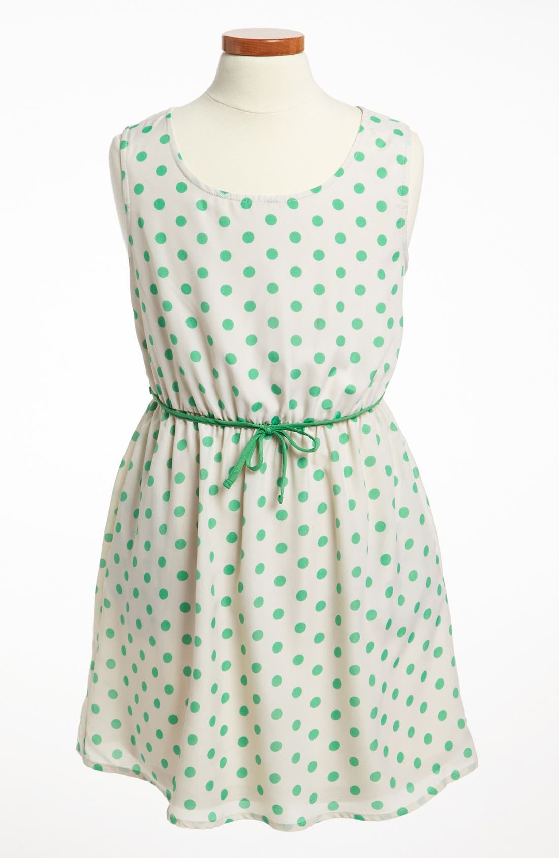 Main Image - Mia Chica Polka Dot Dress (Big Girls)
