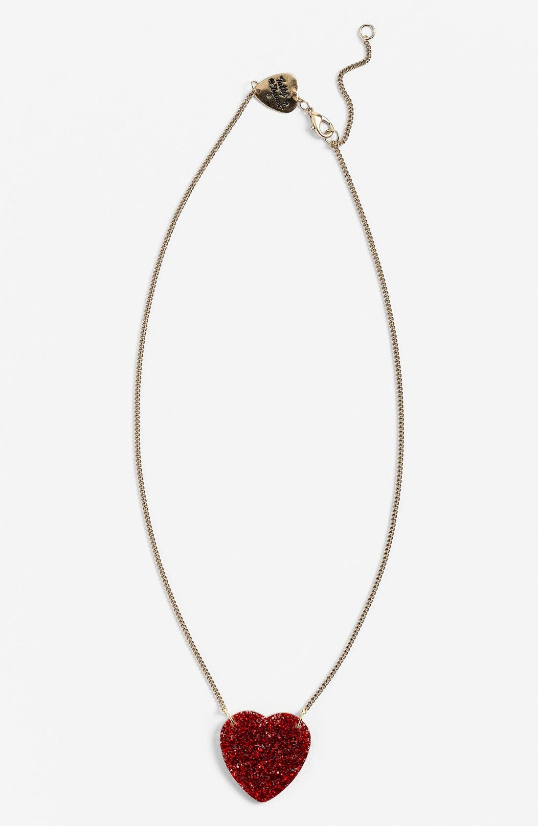 Alternate Image 1 Selected - Tatty Devine 'Glitter Heart' Necklace