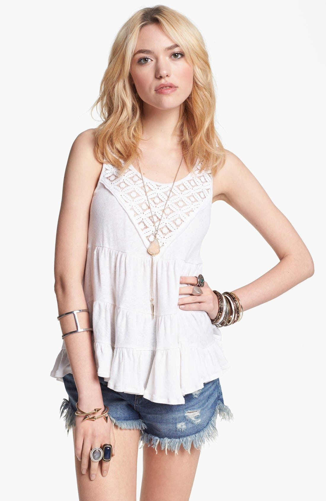 Main Image - Free People 'Dorothy' Babydoll Top