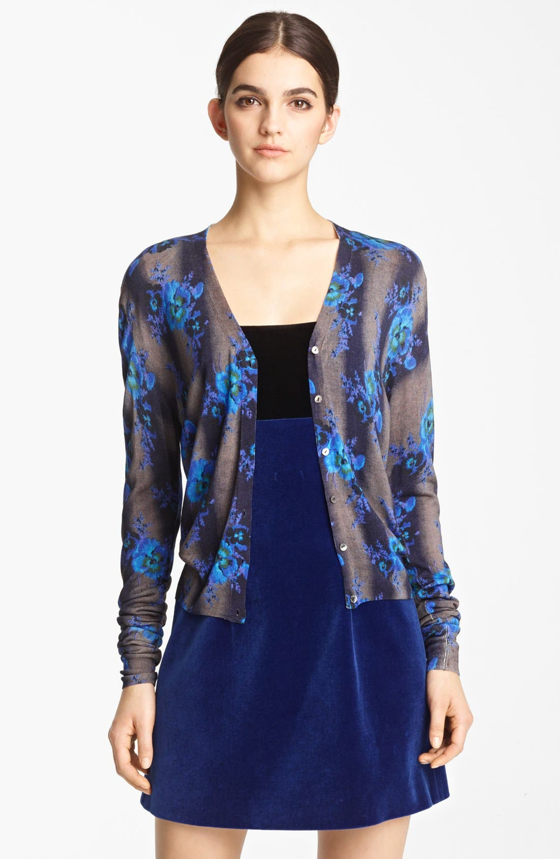 Main Image - Christopher Kane Print Silk Cardigan