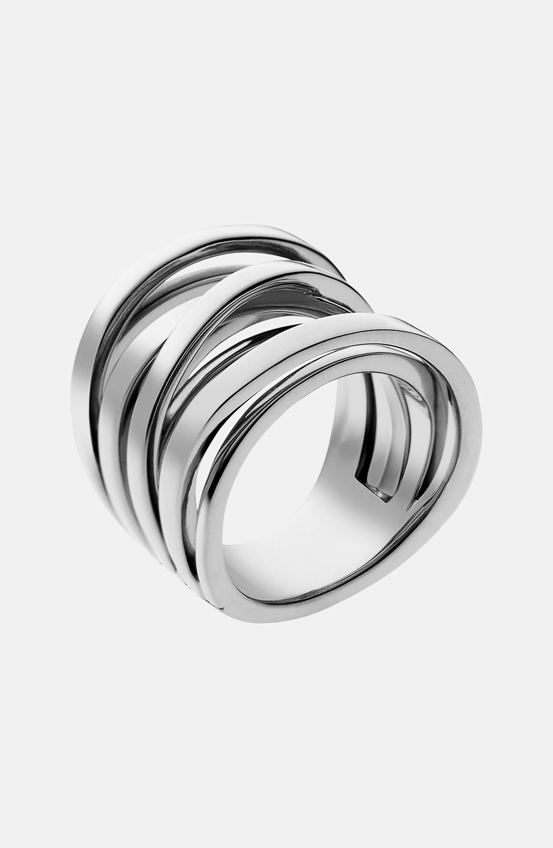 Alternate Image 1 Selected - Michael Kors 'Brilliance' Large Intertwined Ring